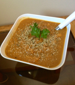 Sweet Potato Cauliflower Soup to lose weight