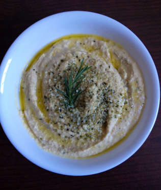 Homemade Rosemary Hummus