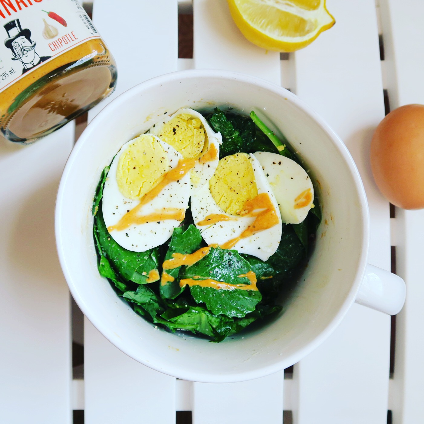 Chipotle Smoked Eggs and Greens